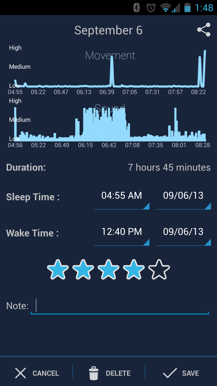 SleepBot Screen Cap
