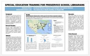Special Education Training for Preservice School Librarians Poster