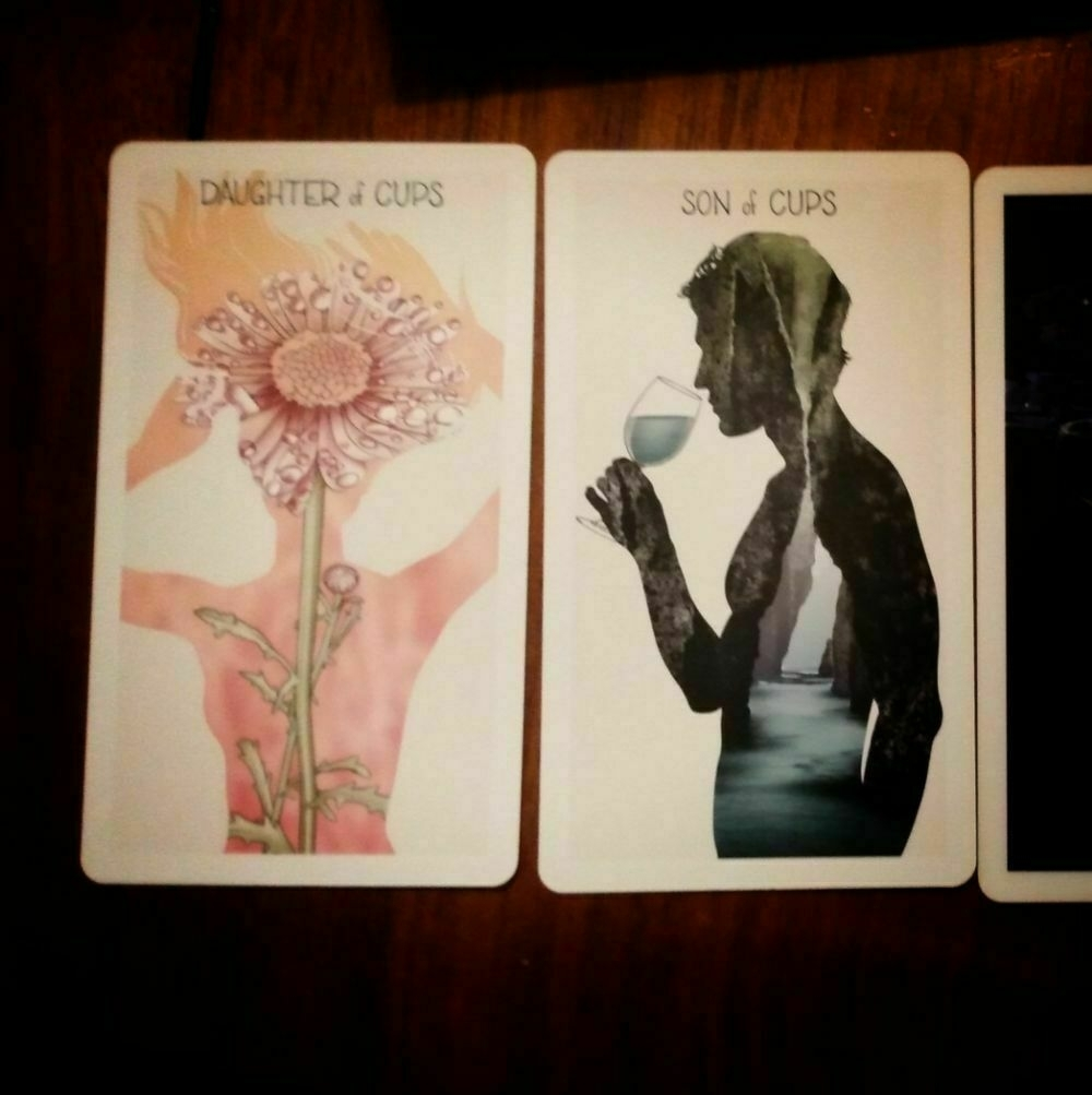 Tarot Cards: Daughter of Cups and Son of Cups